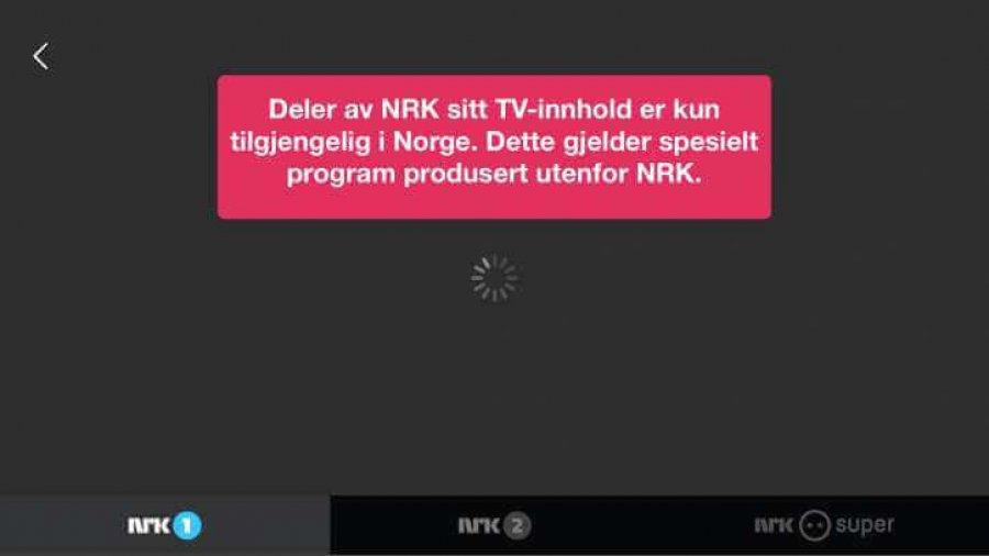 Deler av NRK sitt TV-innhold er kun tilgjengelig i Norge.
